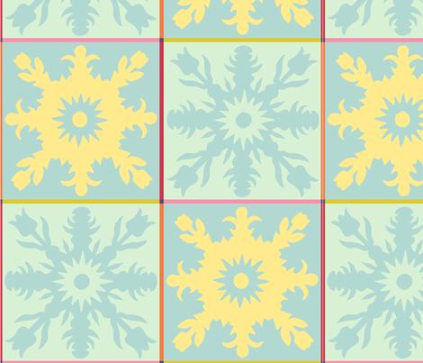 hawaiian_tulip_blocks fabric by renateandtheanthouse on Spoonflower - custom fabric