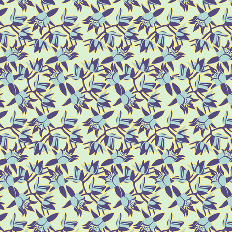 succulent flower cool fabric by cjldesigns on Spoonflower - custom fabric