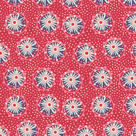 warm paper daisies fabric by cjldesigns on Spoonflower - custom fabric
