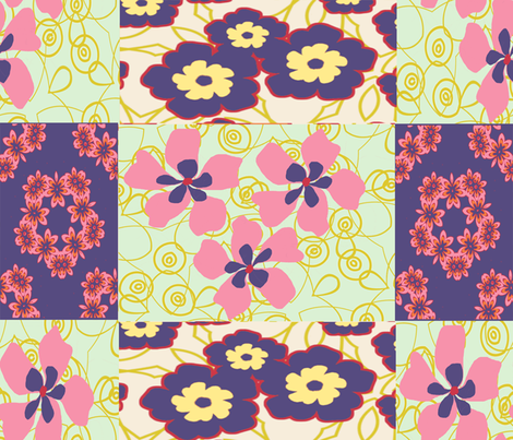 spring_dream_qu_7- fabric by desindian on Spoonflower - custom fabric