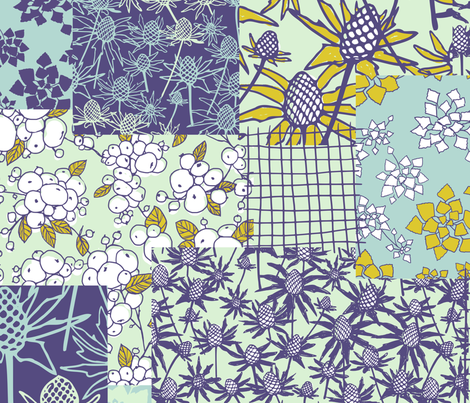 Floral Patches fabric by ravynka on Spoonflower - custom fabric