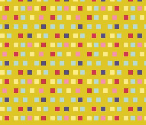 Dandelion Checks fabric by otterspiel on Spoonflower - custom fabric
