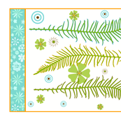 Graphique Ferns Tea Towel