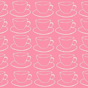 Pink Teacups and Saucers