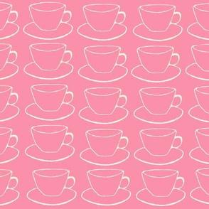 Pink Teacups and Saucers