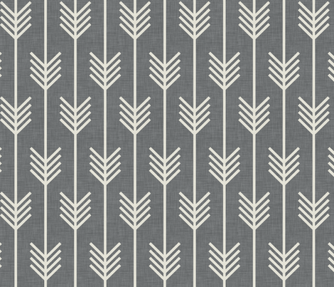 arrows_gray_and_neutral_small fabric by holli_zollinger on Spoonflower - custom fabric