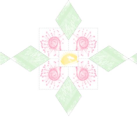 lemon_center fabric by linnaea on Spoonflower - custom fabric