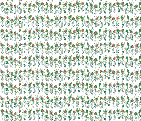 riley flower garden fabric by skellychic on Spoonflower - custom fabric