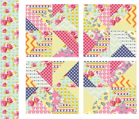 spring pinwheels fabric by p_kok on Spoonflower - custom fabric