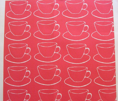 #SFDesignADay Open Source, Teacups and saucers, red and white