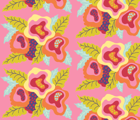 Wild Flora Pinks fabric by me_amelia on Spoonflower - custom fabric