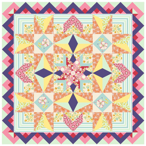 Charming Spring Garden Quilt Panel