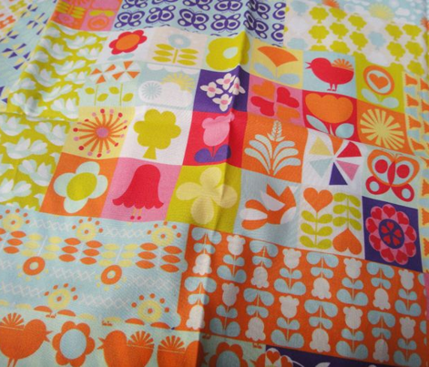 Floral Fantasy Cheater Quilt