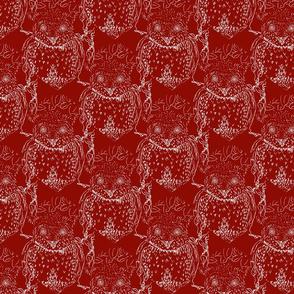 marron owl toile