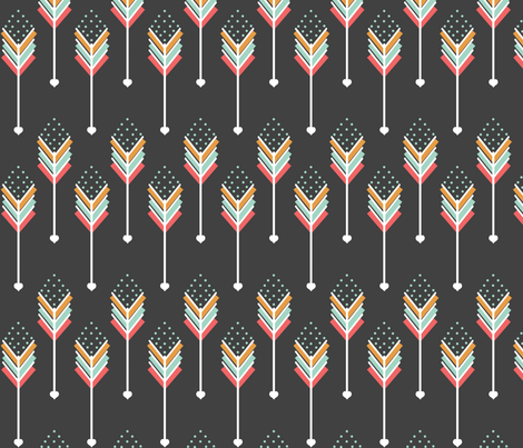 Love Pink Arrows fabric by natitys on Spoonflower - custom fabric