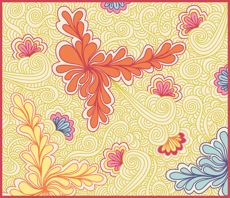 Zen(QUILT)Tangle fabric by sew-me-a-garden on Spoonflower - custom fabric
