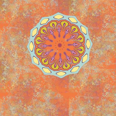 persian floral square