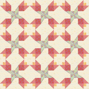 Floral Twirl Cheater Block