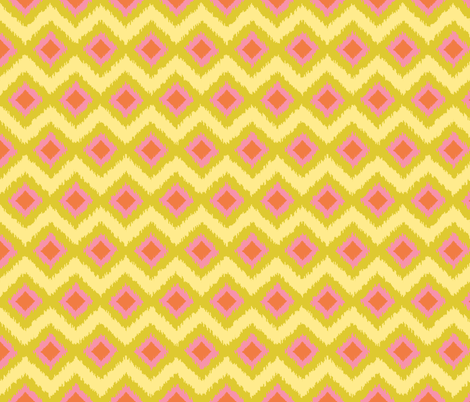 Spring Friends Ikat fabric by shellypenko on Spoonflower - custom fabric