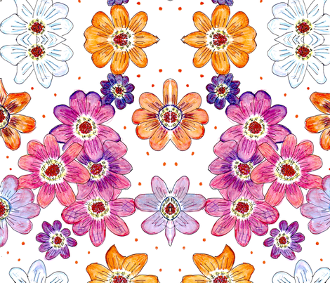 flowers-ed-ed fabric by curtains_by_rae on Spoonflower - custom fabric