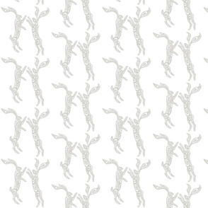 Boxing Hares - Gray