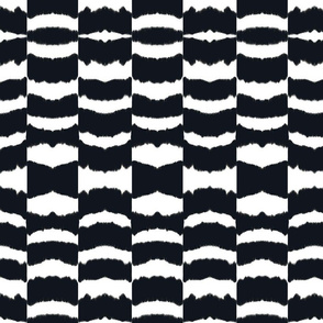 icebox cookie ikat-blk & white