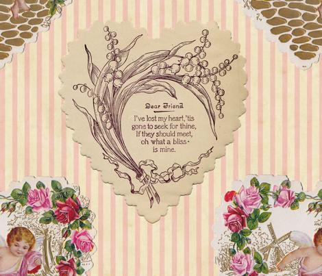 Vintage Valentine Fabric Mandamacabre Spoonflower