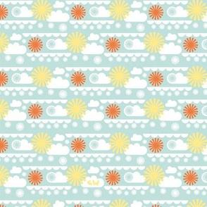 Cloudy Sun Flowers I