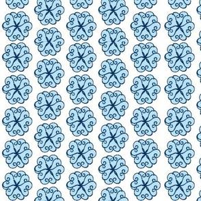Petal Hearts blue small 67