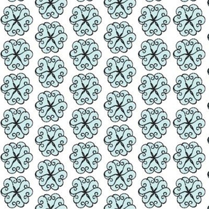 Petal Hearts Small -sea glass 67