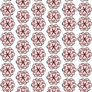Petal Hearts Small pink blk 67