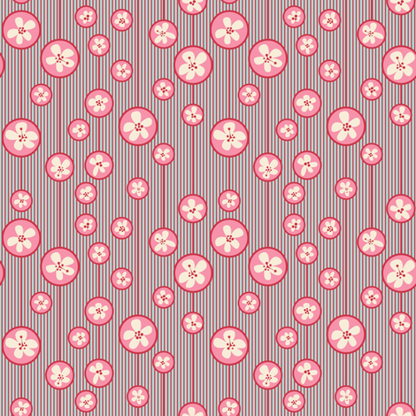 Floral Pink Bubbles/Quilt 1 fabric by juliesfabrics on Spoonflower - custom fabric
