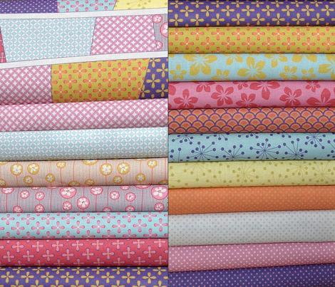 Floral yellow Bubbles/Quilt 1