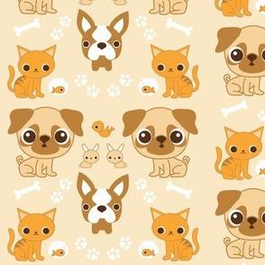 Pet Print Tan