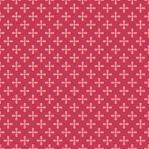 Floral Red checkerboard /Quilt1