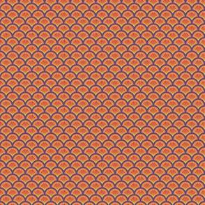 Floral Orange FANS /Quilt1