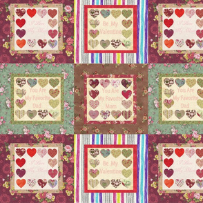 Love house patchwork
