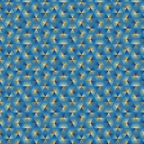 Wheatland Radiata - Blue fabric by siya on Spoonflower - custom fabric