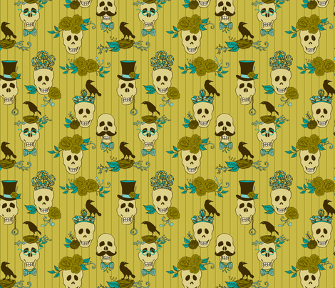 top hats & tiaras  fabric by skellychic on Spoonflower - custom fabric