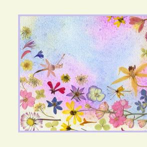 Rainbow Garden Tea Towel
