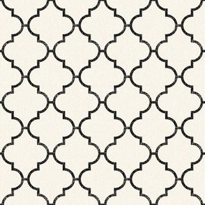 Moroccan Petite Tile on Cream