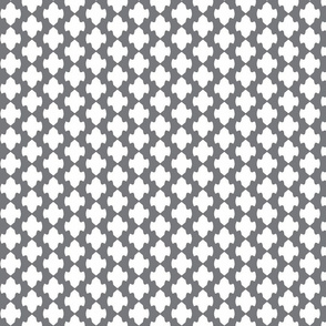 vertical lattice blanket in med gray