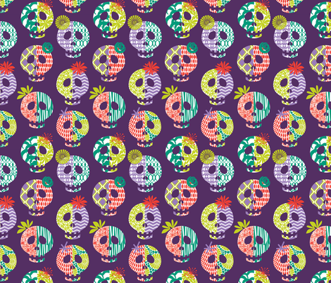 pattern skulls fabric by skellychic on Spoonflower - custom fabric