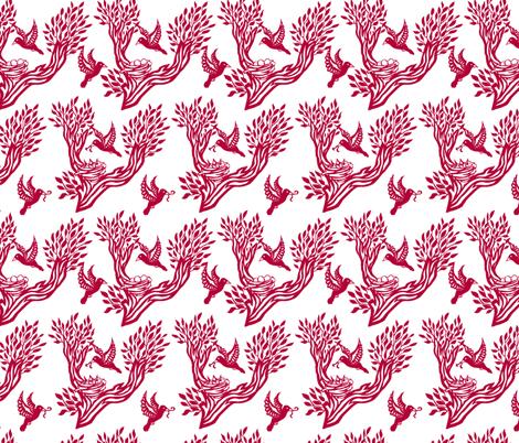 Nesting Birds fabric by pond_ripple on Spoonflower - custom fabric