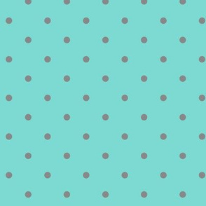Little dots Gray on Aqua