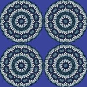 Blue Daisy Kaleidoscope Fractal Mandala Chakra 2