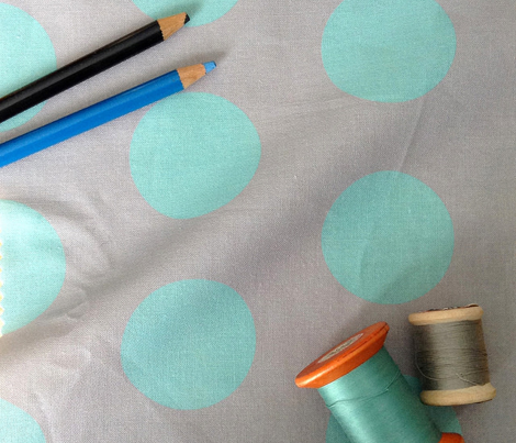 Polka Dot - Turquoise on Gray XL