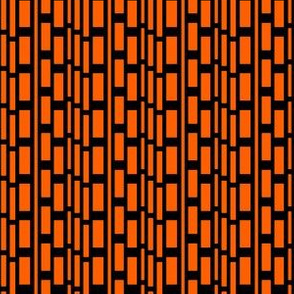 Orange and Black Modern Blocks Macro