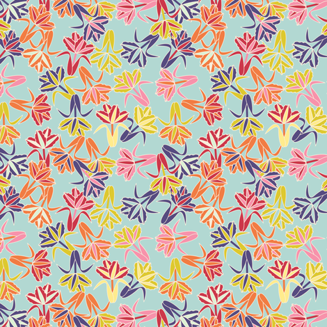 field of tulip _ seamless_multi fabric by anino on Spoonflower - custom fabric
