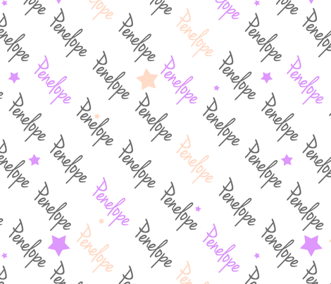 Personalised Name Fabrics - Diagonal Stars in Grey Violet Blush fabric by shelleymade on Spoonflower - custom fabric
